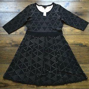 NWT! Lane Bryant Black light sweater LS Dress